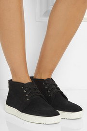 Rag & bone Kent waxed-suede sneakers