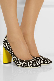Fendi Leopard-print calf hair pumps