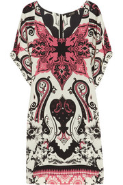 Etro Printed silk mini dress