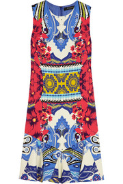 Etro Printed stretch-crepe mini dress