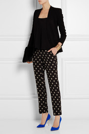 Etro Printed stretch-crepe straight-leg pants