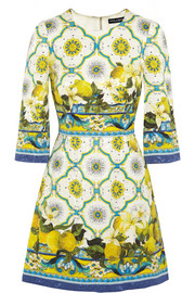 Dolce & Gabbana Printed jacquard mini dress