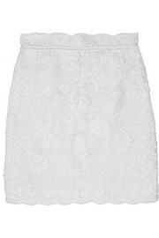 Dolce & Gabbana Crocheted lace mini skirt
