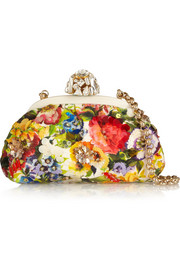 Dolce & Gabbana Dea embellished floral-brocade shoulder bag
