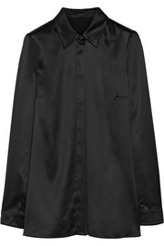 Gucci Stretch-silk satin shirt