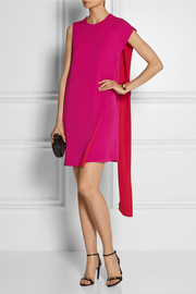 Gucci Two-tone silk wrap dress