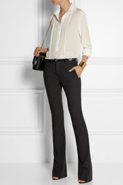 Gucci Stretch-wool crepe flared pants