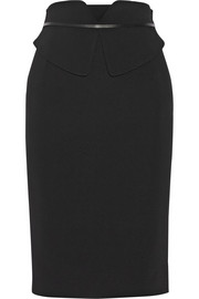 Gucci Peplum-effect stretch-cady pencil skirt