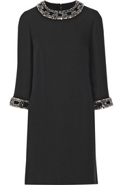 Gucci Embellished silk-cady mini dress