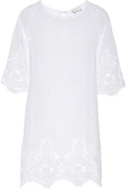Miguelina Dahlia crocheted cotton-lace dress