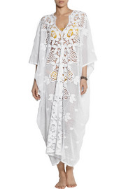 Miguelina Rachel crocheted cotton-lace kaftan