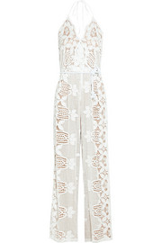 Miguelina Bianca crocheted cotton-lace jumpsuit