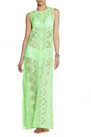 Miguelina Leslie crocheted cotton-lace maxi dress