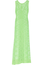 Leslie crocheted cotton-lace maxi dress