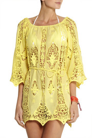 Miguelina Bridgette crocheted cotton-lace dress