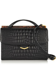 Fendi Demi Jour croc-effect leather shoulder bag