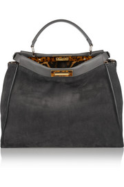 Fendi Peekaboo medium suede tote