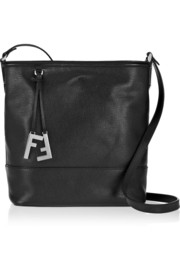 Fendi Textured-leather small bucket bag