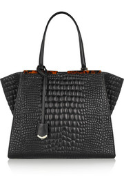 Fendi Croc-effect leather tote