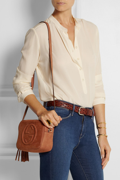 c2d5c952b5b2 Gucci. Soho small nubuck shoulder bag.  980. Zoom In