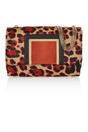 Jimmy Choo Alba leopard-print calf hair shoulder bag