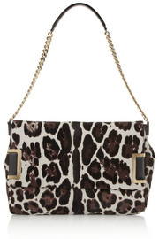 Jimmy Choo Ally leopard-print calf hair shoulder bag