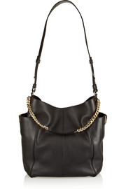 Jimmy Choo Anna textured-leather shoulder bag