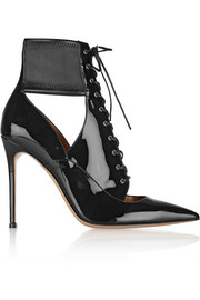 Gianvito Rossi Lace-up patent-leather ankle boots
