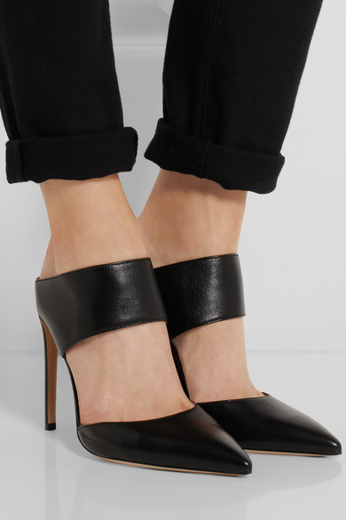 brand new unisex cheap price Gianvito Rossi Pointed-Toe Leather Mules clearance excellent clearance online cheap real cheap sale finishline vTBYg9lkQJ