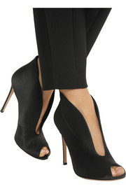 Gianvito Rossi Vamp 100 satin ankle boots