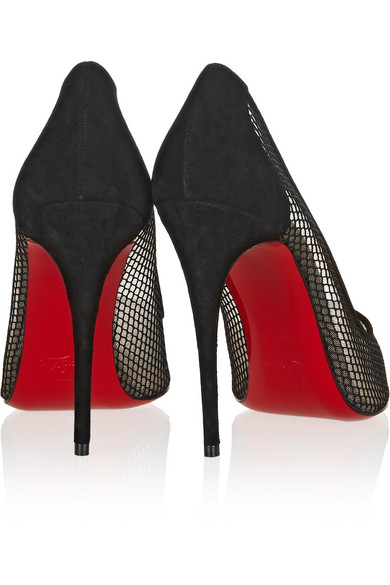 red bottom shoes knock off - Christian Louboutin | Follies Resille 100 suede-trimmed mesh pumps ...