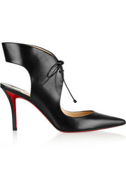 Christian Louboutin Franca 85 cutout leather pumps