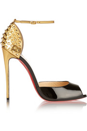 Christian Louboutin Pina Spike 120 patent-leather pumps
