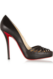 Christian Louboutin Luciana 120 cutout leather pumps