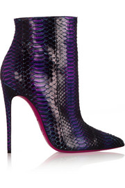 Christian Louboutin So Kate 120 watersnake ankle boots