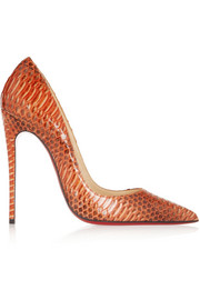 Christian Louboutin So Kate 120 watersnake pumps