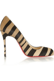 Christian Louboutin Fifi 100 tiger-print calf hair pumps