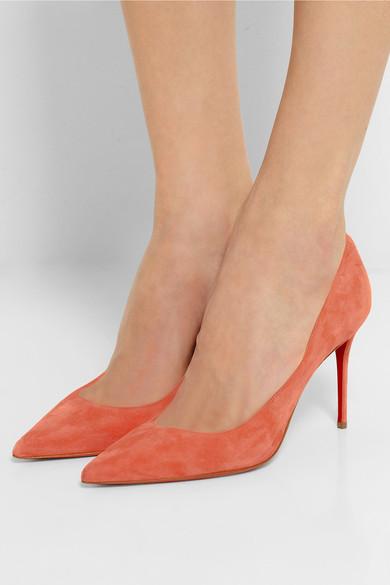 imitation louis vuitton shoes - Christian Louboutin | D��collet�� 85 suede pumps | NET-A-PORTER.COM
