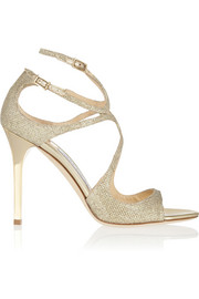 Lang textured-lamé sandals
