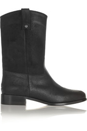 Hudson waxed-suede ankle boots