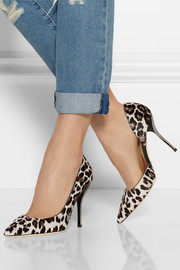 Jimmy Choo Willis leopard-print calf hair pumps