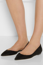 Jimmy Choo Walton suede d'Orsay point-toe flats