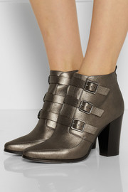 Jimmy Choo Hutch metallic leather ankle boots