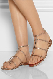 Jimmy Choo Doodle mirrored-leather sandals