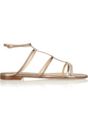 Doodle mirrored-leather sandals