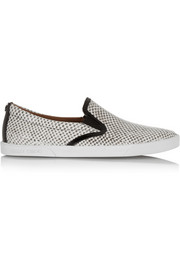 Demi snake-effect leather slip-on sneakers