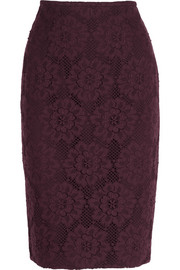 Burberry London Crocheted lace pencil skirt