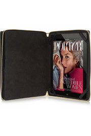 Powered by Net-A-Porter Saffiano leather iPad clutch