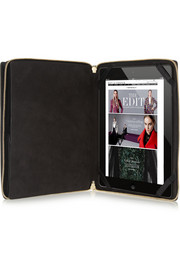 Saffiano leather iPad clutch