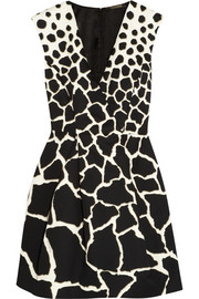 Roberto Cavalli Gaia printed cotton mini dress